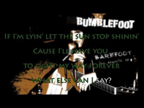 bumblefoot - she knows (acoustic) - karaoke