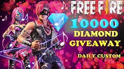 Free Fire Live 10000 Diamond Giveaway @FreeFire@FreeFireLive