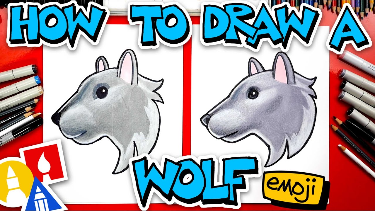 How To Draw The Wolf Head Emoji