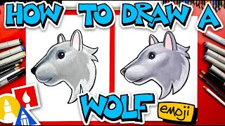 How To Draw The Wolf Head Emoji 🐺