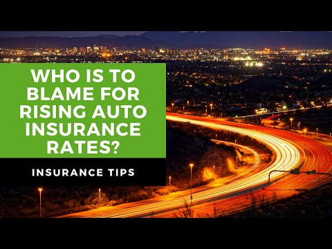 Whose to blame for increasing auto insurance rates?