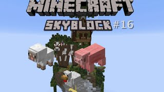 Skyblock #16 Dieren farms maken (Minecraft)
