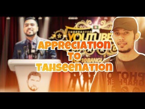 Appreciation to TahseeNation!!!