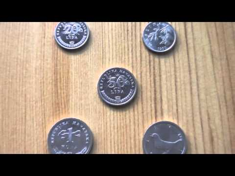 Coins collection of Croatia in HD