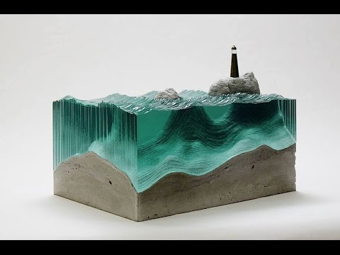 Combines glass and concrete into surprising works of art