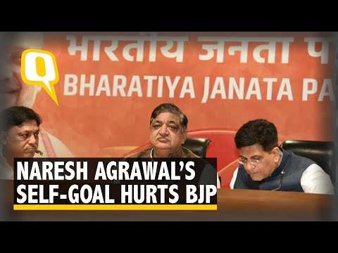 Naresh Agrawal Enters BJP With Sexist Slur, EAM Dubs It 'Improper'