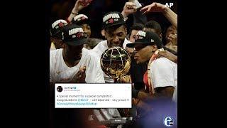NBA FINALS: Villanova congratulates Kyle Lowry on National Championship