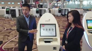 Changi Airport Terminal 4 Automated Self Check-in Demonstration