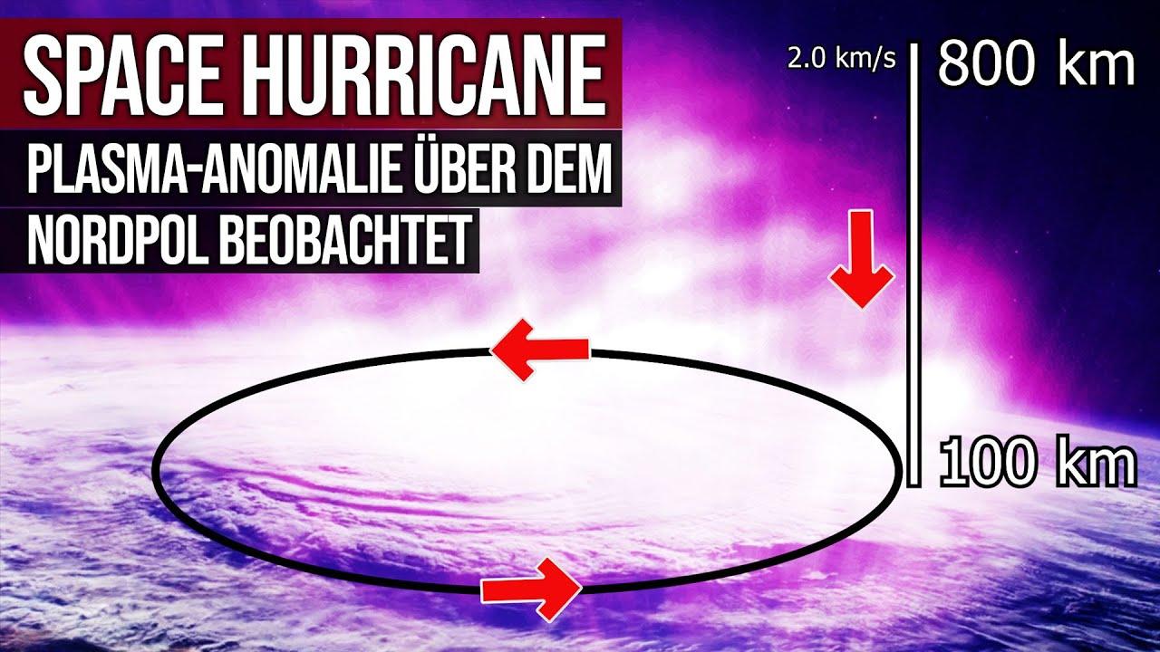 Space Hurricane - Plasma-Anomalie über dem Nordpol beobachtet
