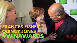 Quincy Jones & Frances Fisher at the 17th Annual Women's Image Awards #WINAwards17