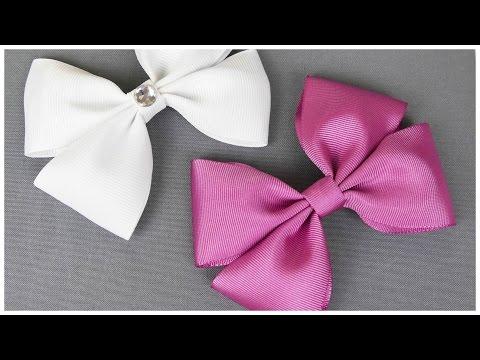 How To Make A Hair Bow I No sew Hair Bow I DIY Easy Bow