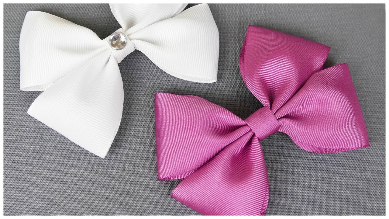 How To Make A Hair Bow I No sew Hair Bow I DIY Easy Bow - YouTube 23859d3660