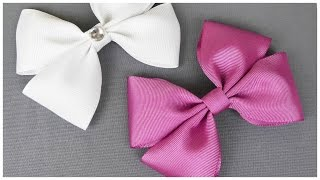 How To Make A Hair Bow I No sew Hair Bow I DIY Easy Bow