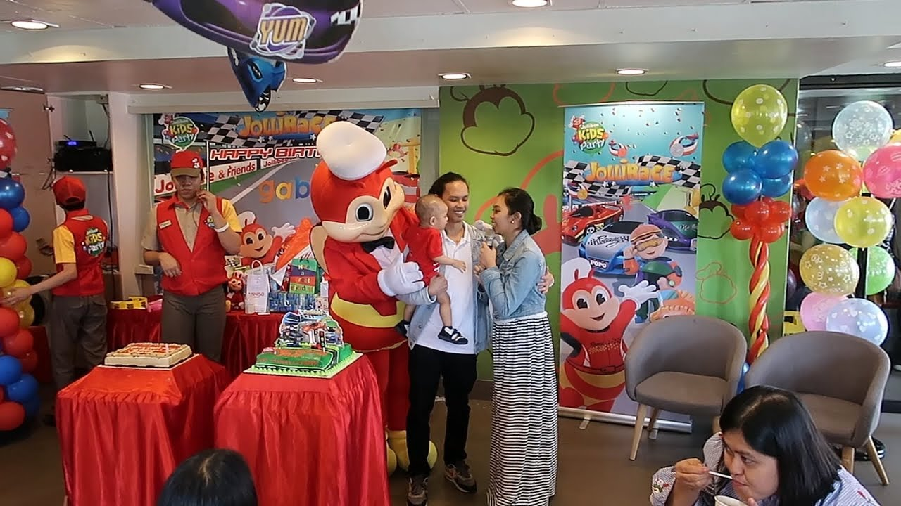 Jollibee Kids Party Jollirace Theme Youtube