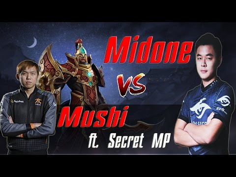 Secret Midone silencer vs Mushi Invoker - F***ing Mushi Again !! [Top 1 MMR vs SEA Dota 2 Legend]