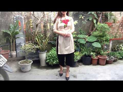DIY - May áo dài cách tân/ Sewing an Innovative Ao Dai