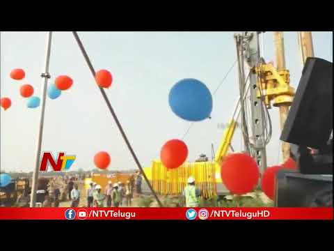 CM Chandrababu Inaugurates Bandar Port Construction Work At Krishna District | NTV