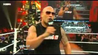 WWE RAW 2/14/11 - The Rock Makes Fun Of John Cena