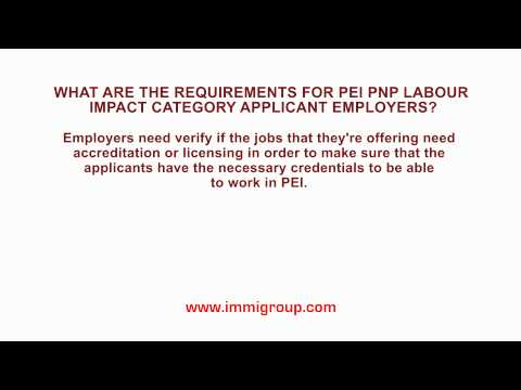 What are the requirements for PEI PNP Labour Impact Category applicant employers?