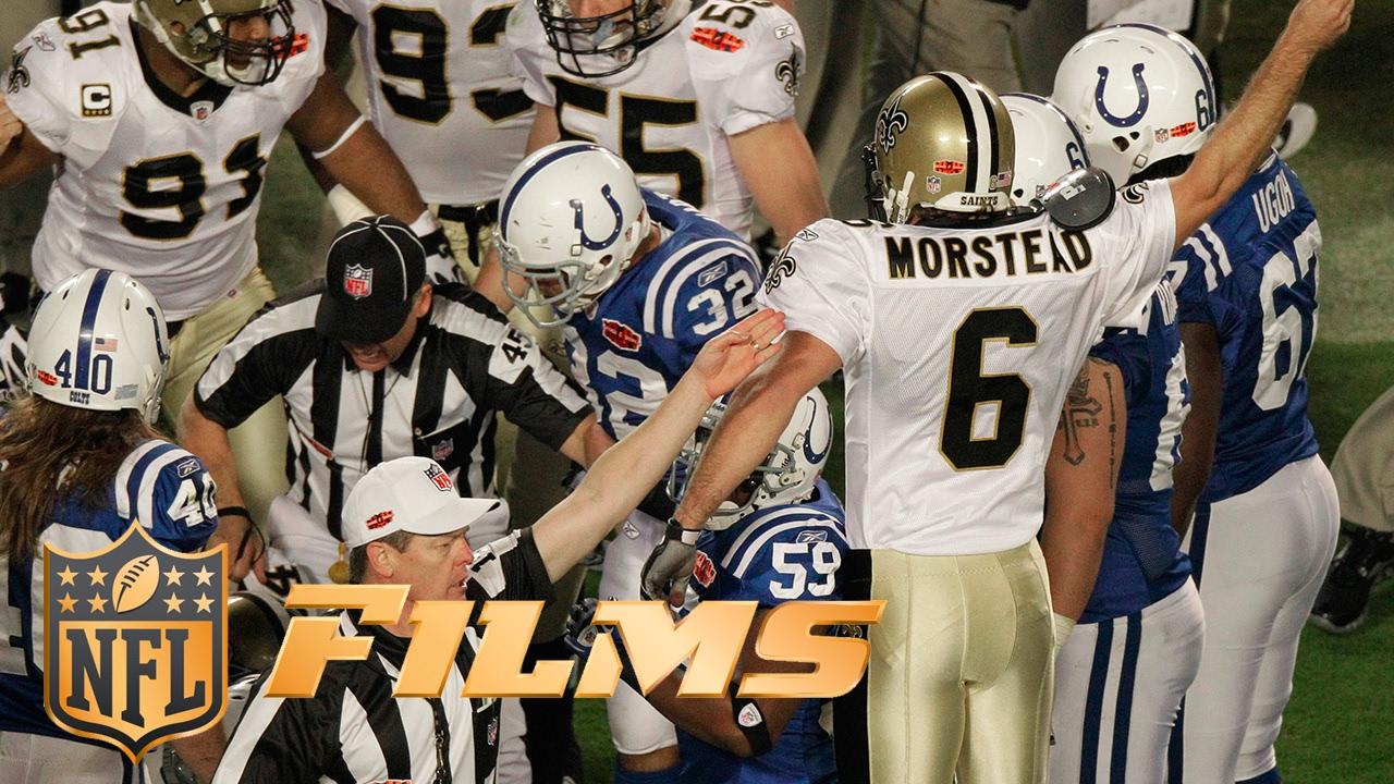 9 Saints Surprise Onside Kick Nfl Films Top 10 Super Bowl Plays Youtube