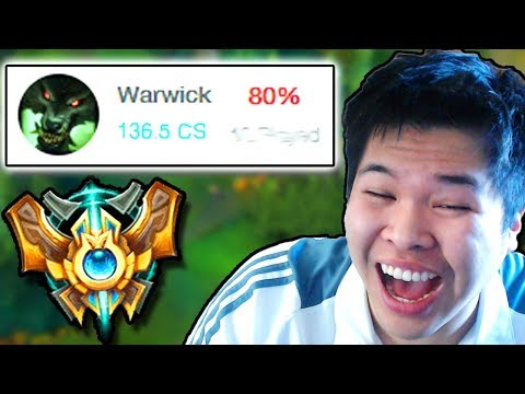 THIS IS WHAT A 80% WIN RATE WARWICK CHALLENGER LOOKS LIKE - Challenger to RANK 1