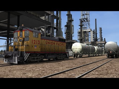 Train Simulator Sherman Hill Scenario Pack 1: UP SW10 - 4: Cheyenne Refining