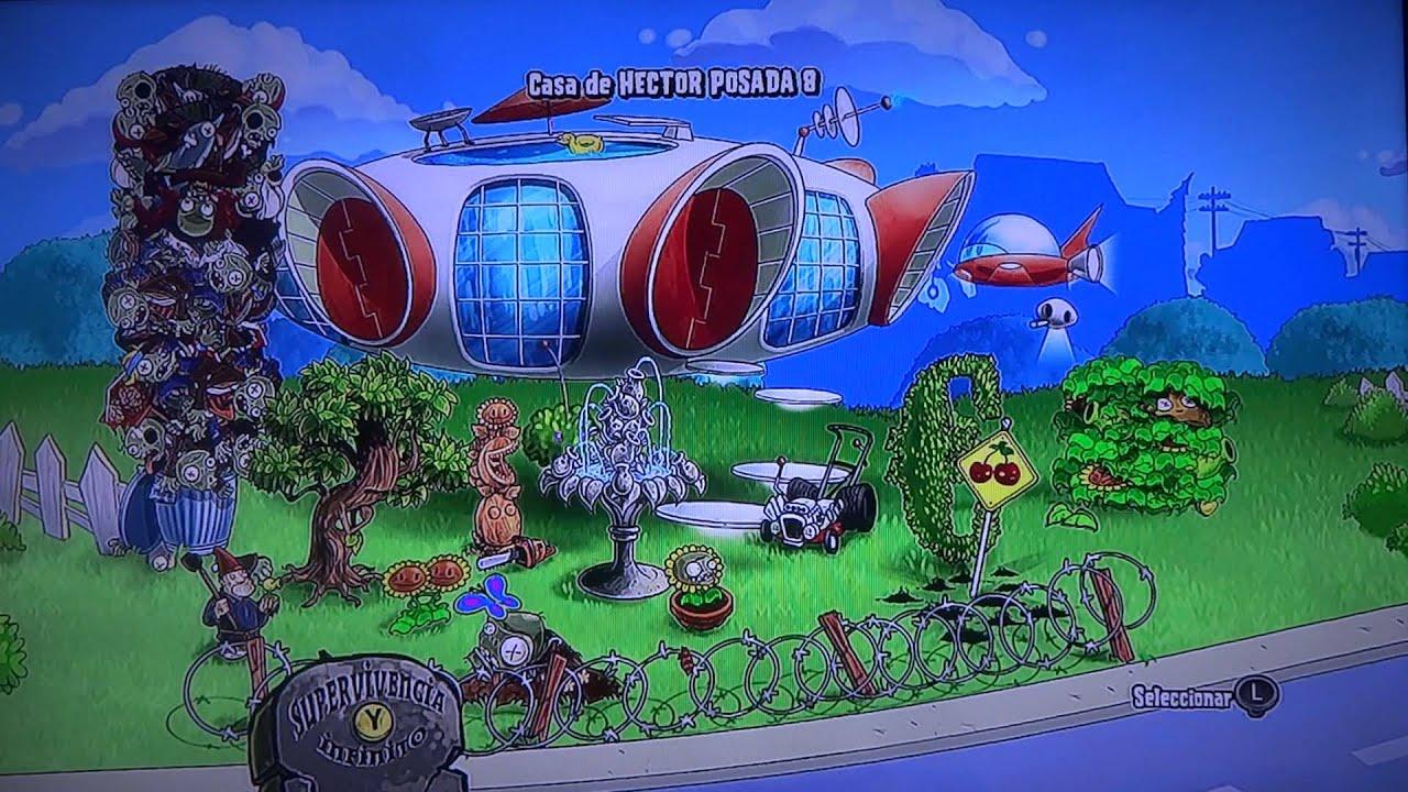 las 5 casas completas de plantas vs zombies en xbox 360