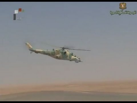 Syria Syrian air force live firing military training exercices Mig-29 MiG-23 Mi-25 Mi-17 July 2012
