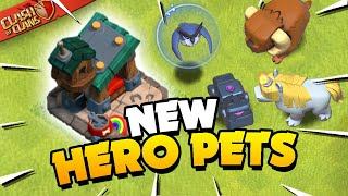 Hero Pets Explained! New Units in Clash of Clans!