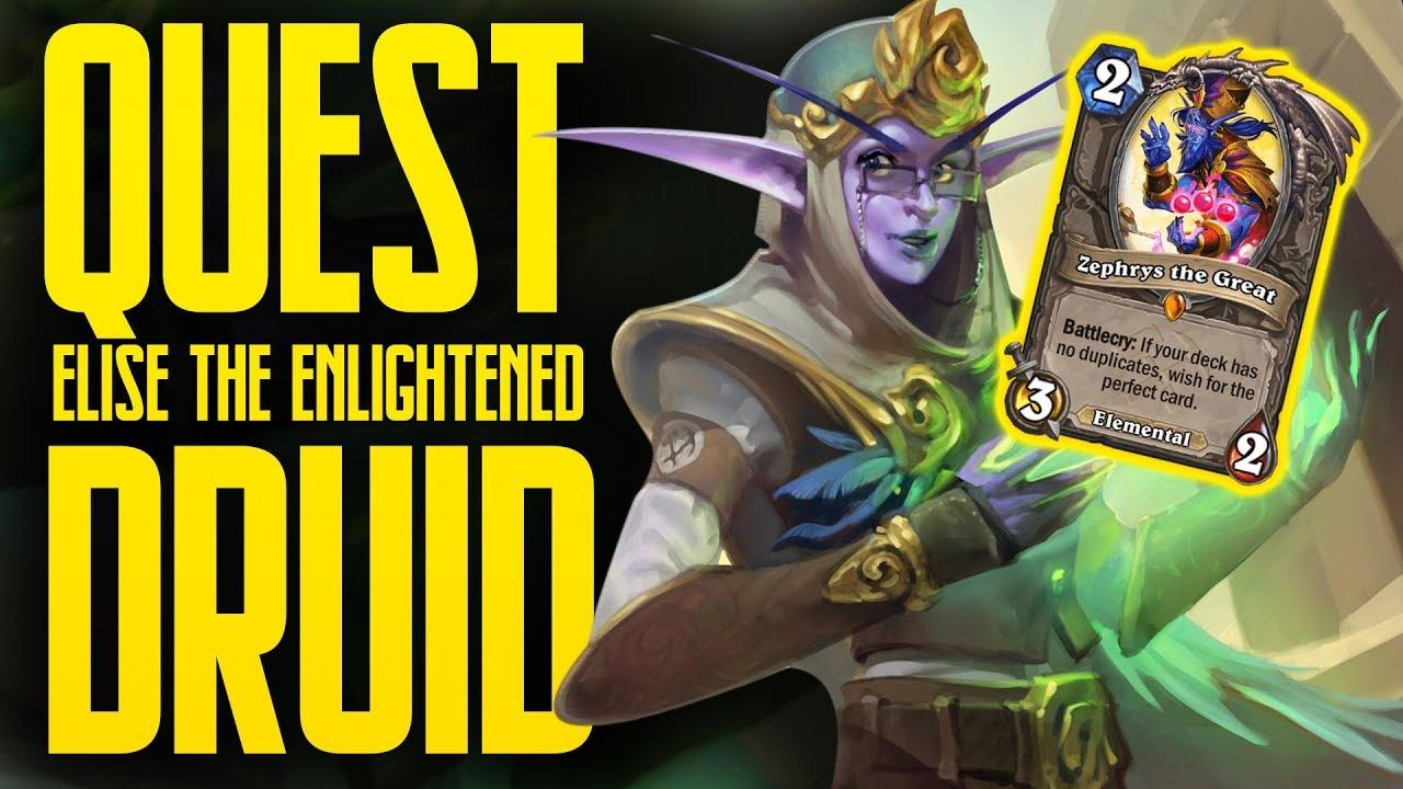 Elise Quest Druid is SO GOOD!   Saviors of Uldum   Hearthstone