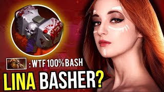 LINA BASHER?! - New Meta Carry Lina Skull Basher 7.07 Dota 2 | Upside Down #20