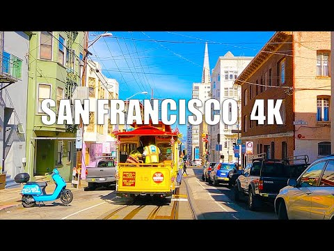[4K]Driving Downtown San Francisco 4K California USA - /Chinatown/Lombard Street/downtown Neighbor/