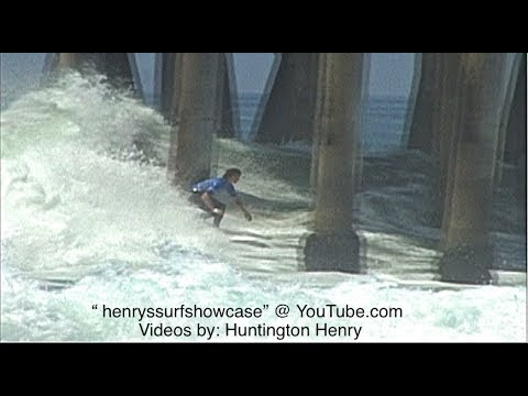 """U.S. Open"" Men's ((High Surf)) 2017 Huntington Beach Pier CA."