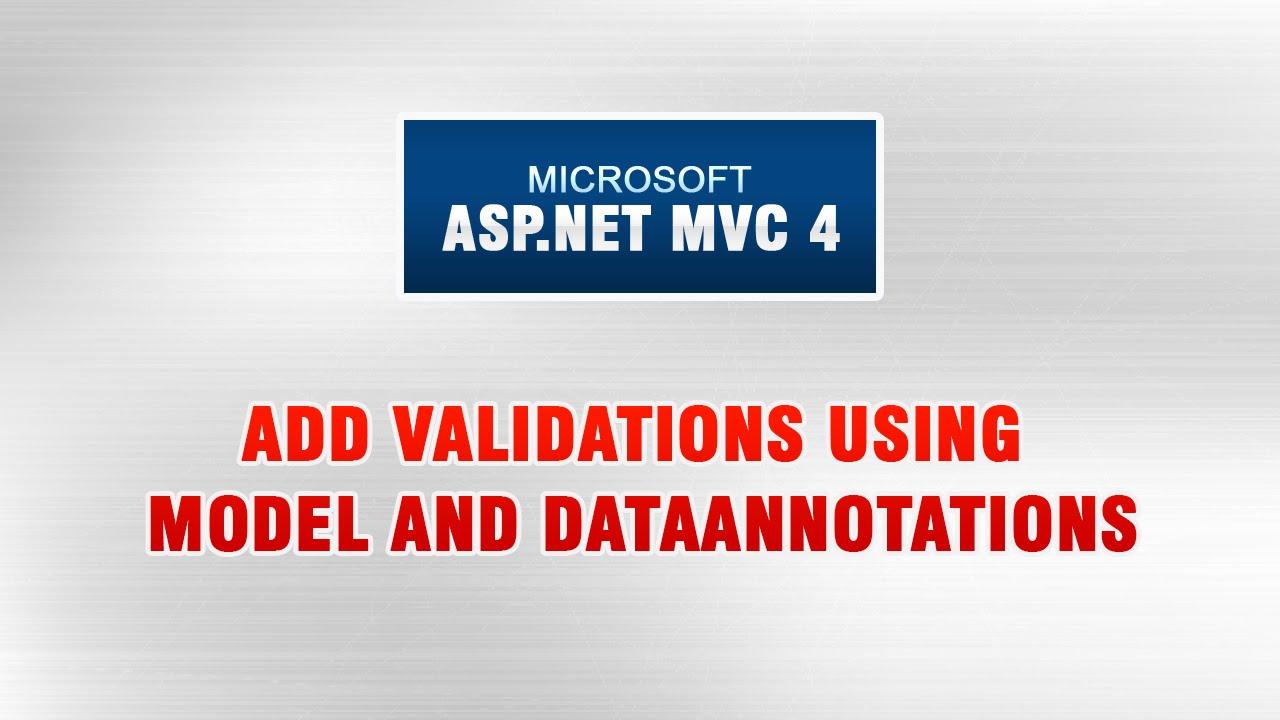 Asp Net Mvc 4 Tutorial In Urdu Add Validations Using Model