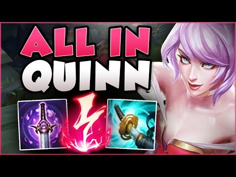 WTF! 1 ITEM = 100% CRIT?? ALL IN QUINN IS BEYOND DEADLY! QUINN TOP GAMEPLAY! - League of Legends