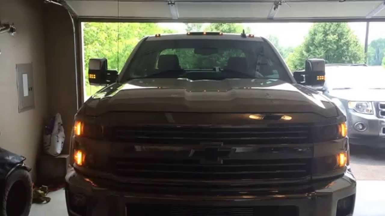 2015 Silverado Tow Mirrors Flashing Amber Leds Youtube