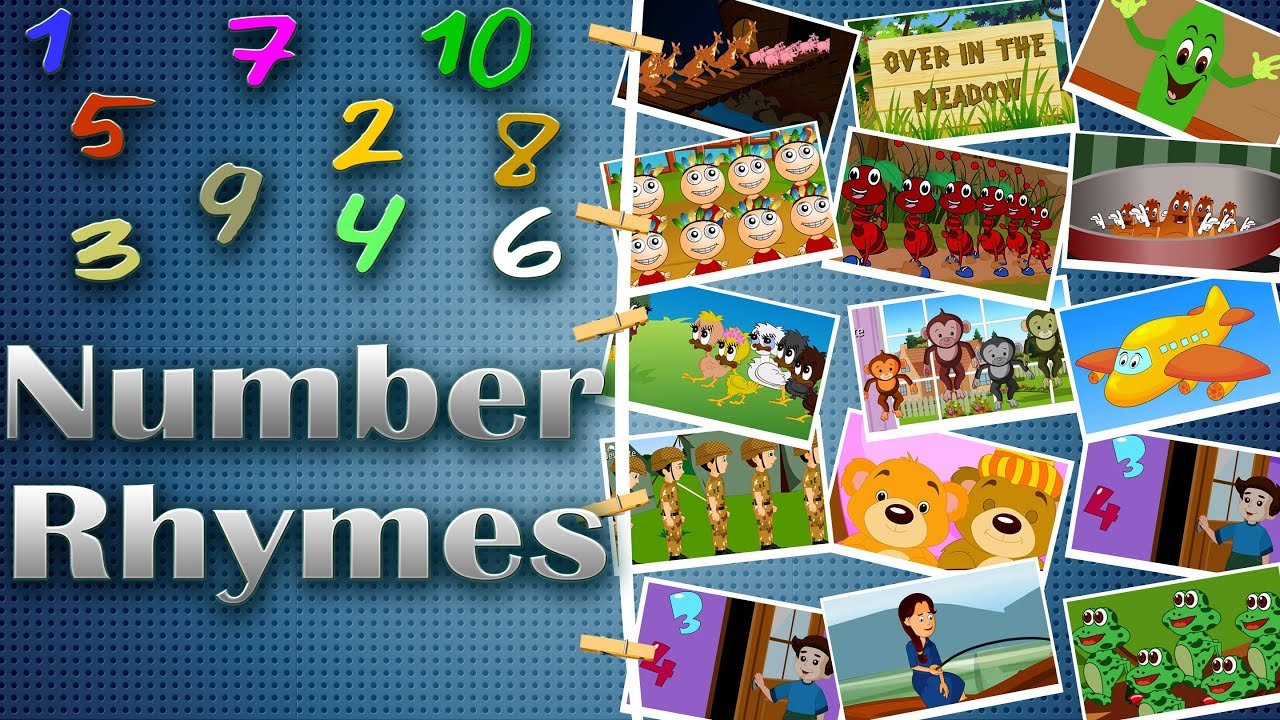 Number Rhymes Medley | Counting Rhymes for kids | 14 ...