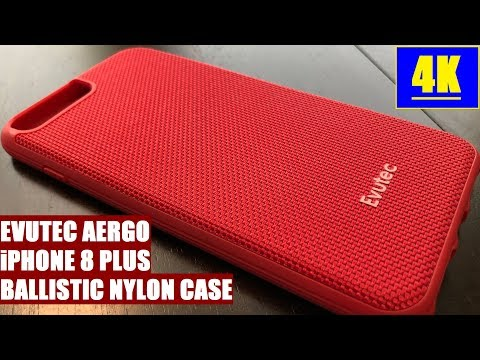 Evutec Aergo Iphone 8 Plus Ballistic Nylon Red Case Review 4K