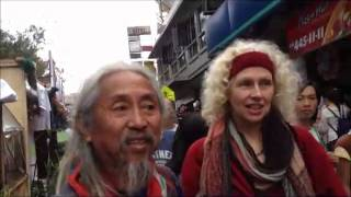 Az video blog: Panagbenga street bazaar in Session road, meet Kidlat Tahimik and trip back to Manila