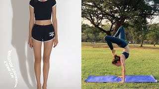 My Daily Workout Routine Какие упражнения я выполняю Йога Гимнастика как похудеть