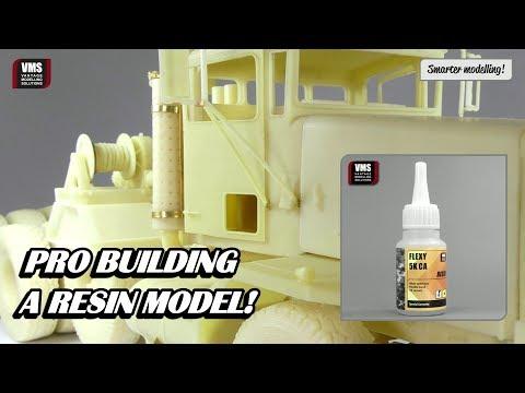 How to build resin models VMS FLEXY 5K RESIN CA glue tutorial