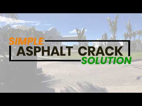 Repair Asphalt Pavement Parking Lot Cracks Easily | Asphalt Kingdom