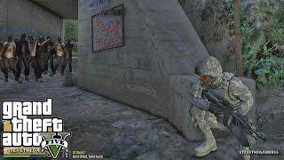 GTA 5 MODS - MILITARY PATROL - ZOMBIE APOCALYPSE 3 (GTA 5 PC POLICE MODS)