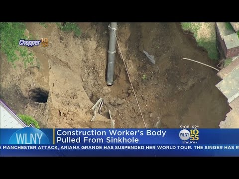 Construction Worker's Body Pulled From Long Island Sinkhole