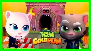 КОТ ТОМ БЕГ ЗА ЗОЛОТОМ #29. ГОВОРЯЩИЙ ТОМ АНДЖЕЛА И ДРУЗЬЯ - мультик игра видео для детей.