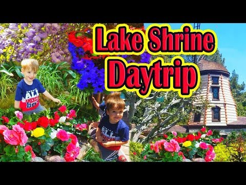 Self–Realization Felloship, Daytrip with Kids, Lake Shrine, Nature, Ashram, Путешествуем по Америке