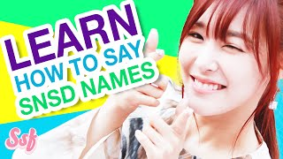 HOW TO SAY SNSD's Korean Names & Meaning - Girls' Generation Video l @Soshified - Stafaband