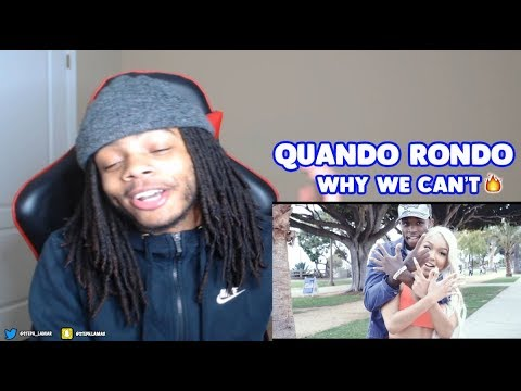 QUANDO RONDO - WHY WE CAN'T ( OFFICIAL MUSIC VIDEO ) **REACTION**