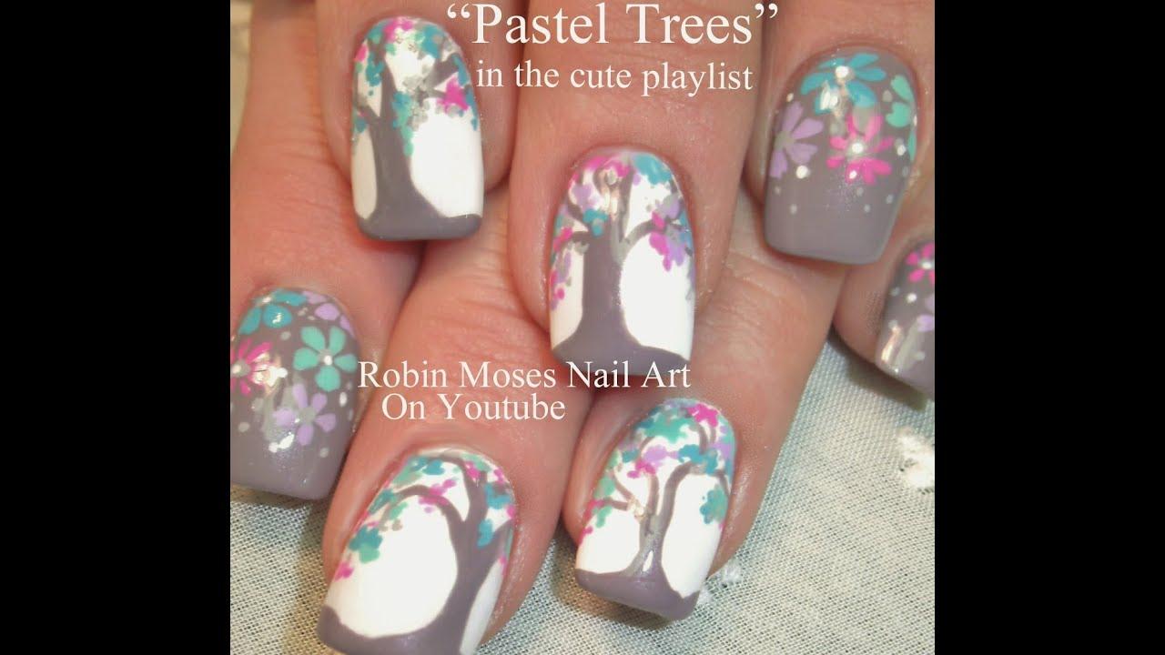 Nail Art On Youtube: Tree Nail Art Design Tutorial