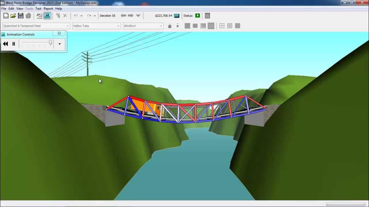 West Point Bridge Designer Software